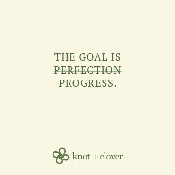 Best life visualization: the goal is progress, never perfection.